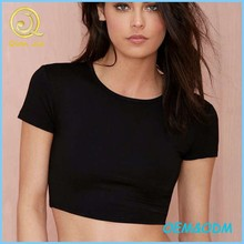 2015 New Style Women's Top Short Sleeves Crop Tee