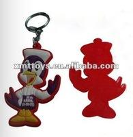 cute pvc promotional dog keychain 6cm height