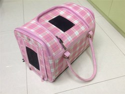 Luxury pet products wholesale pink dog basket