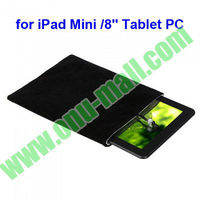 Double Polyester Cloth Protective Sleeves Pouch Case for Tablet PC iPad Mini / 8 Inch Tablet