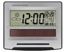 2015 hot sell beautiful square outlook digital snooze large LCD screen temperature alarm clock/digital clock