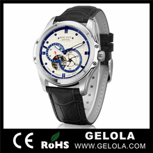 Alibaba Websire men watch 2014,2012 New Model Sports Wristwatch with Leather Strap and Stainless steel Case
