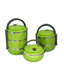 elegant stainless steel sunrise food container set