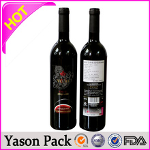Yason packaging plastic bags self adhesive pasted with 3d laser sticker 80g art paper stickers void warranty sticker