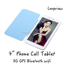 With folding cover case MTK6572 Android4.4 7inch dual sim 3G TABLETS with fm, wifi, GPS, Bluetooth
