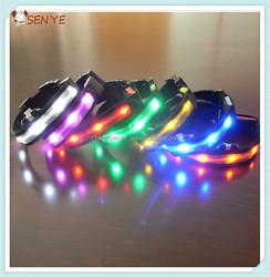 CE Fashion Nylon LED Luminous Dog Collars