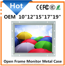 "New Arrival 10""12""15""17"" Open Frame LCD Monitor for Industry Field Touch Screen Optional"