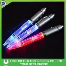 Customized Logo Metal Promotional Flashing Light Led Pen