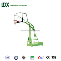 Outdoor flexibility fitness hot foldable hydraulic basketball stand for community