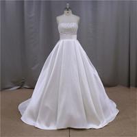 Luxury Rhinestone alie saab wedding dress