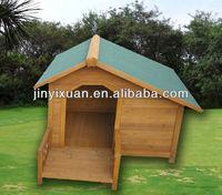 Outdoor Wooden Dog House / Fir Wood Dog Kennel with Veranda
