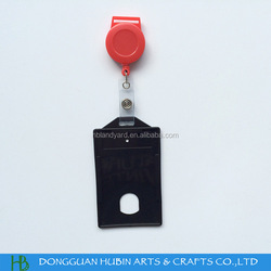 15mm wide lanyards id badge holder with hard plastic card holder
