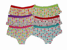 Different types of women underwear with allover print