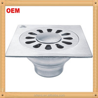 4 inch square stainless steel floor drain