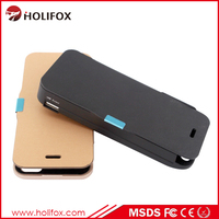 External Backup Battery Charge Bank Power Case For Iphone 5 Wallet Battery Case For Iphone 5 With Flip Cover
