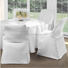 Polyesterplain white thick Folding Chair Cover