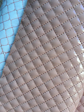 Quilted synthetic PU leather raw material for shoes and bags