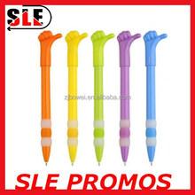 Cute finger hand design plastic ball pen