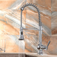 Chrome Plated Hot and Cold Water Pull out Kitchen Faucet