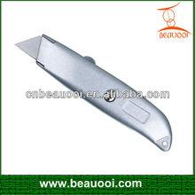 Hot sale aluminum alloy assist utility knife mini box cutter