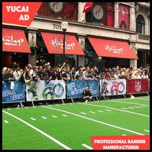 Sports event barrier banner promotion