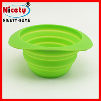 Good quality travel silicone collapsible folding bowl / fruit bowl / vegetable bowl