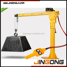 portable small boat lifting cranes for truck