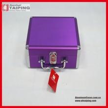 Cosmetic Makeup Aluminum Train Jewelry Lockable Box Organizer Case Beauty Bag