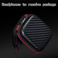 Leather KZ Headphone Earbuds Carrying Case Earphones Storage Box Holder Headset Bag Admission Package For KZ ED3/ATE/ED9