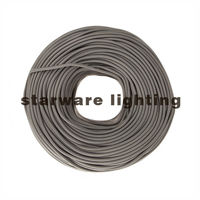 2 Core 3 Core Textile Electrical Cable Braided Twisted Wire Cord/Grey