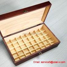 High quality packaging factory customize original color essential oil wooden box