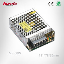 MS-50W MINI switch mode power supply with SGS,CE,ROHS,TUV,KC,CCC certification