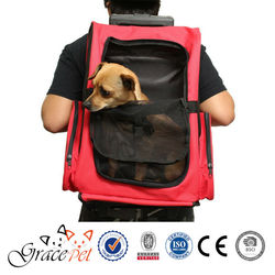 [Grace Pet] Fabric material travel trolley pet carrier