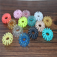 multi color cute small size non toxic spiral spring cable wire hairbands for kids baby gifts hair accessories