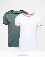 Plain 95 cotton /5 elastane no brand t-shirt manufacturers in usa