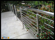 HR1407B 42mm diameter circular tube stainless steel outdoor stair railing and handrails for outside