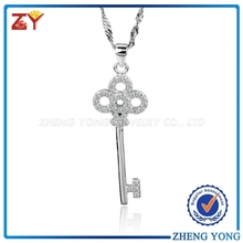 Alibaba China Key Necklace Jewelry,Fashion 925 Silver Jewelry,Latest Charming Pendant Necklace