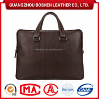 Wholesale Brand Genuine Leather Laptop Bag Lawyer Briefcase