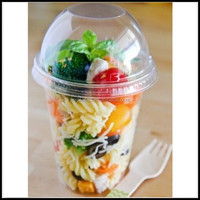 Plastic CLEAR 16 oz salad dessert Cup with no hole DOME Lid Parfait Cup,oem16oz plastic disposable clear drinking beverage cups