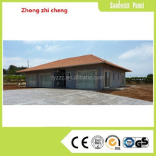 Prefabricated wooden house with steel structure