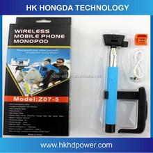 Foldable selfie stick bluetooth selfie stick z07-5 hand cell phone holder