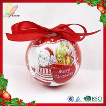 Butterfly Ningbo 2015 Chinese New Product wholesale hand painted plastic christmas tree hanging ball