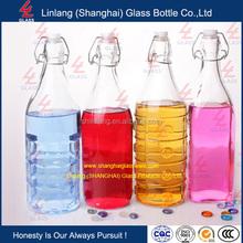 1L Flip Closure Beer Bottle Amber Glass Bottles