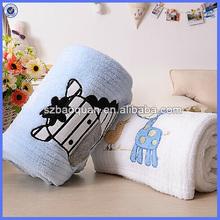 applique embroidery polar fleece baby blanket/blanket baby