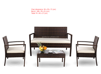 SIMPLE KD RATTAN SOFA/OUTDOOR TABLE AND CHAIR FURNITURE/KD GARDEN FURNITURE
