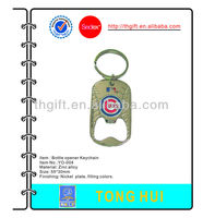 Metal Bottle opener Key chain/keychain w/lacquered colors