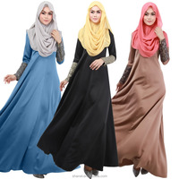 new arrival sequins long sleeve muslim dress abaya