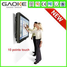All-in-one computers with wide format and multi-touch LCD panels