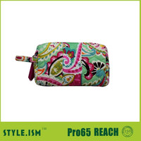 Ladies Colorful Floral Pattern Cosmetic Bag Makeup Pouch Travel Organizer ,plain toiletry makeup bag