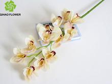fiore artificiale orchidea con vaso di vetro artificiale composizione floreale di nozze